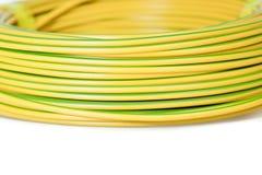 Gul kabel Arkivfoto
