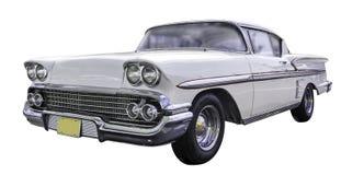 Gul klassisk bil för amerikan Royaltyfria Foton