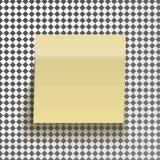 Gul klibbig anmärkning som isoleras på genomskinlig bakgrund Mall för dina projekt Arkivbilder