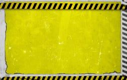 Gul konstruktionsbakgrund Arkivbilder