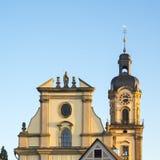 Gul kyrka i Neckarsulm, Tyskland arkivfoto