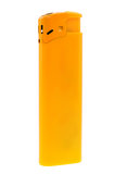 Gul lighter som isoleras på vit bakgrund Arkivfoto