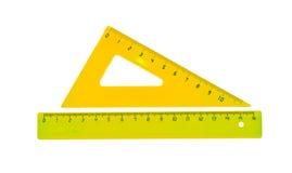 Gul linje och en triangel Royaltyfria Foton