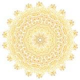 Gul lutningmandalaprydnad Vektor isolerad etnisk garnering vektor illustrationer