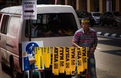 Gul malaysisk halsduk Arkivfoton
