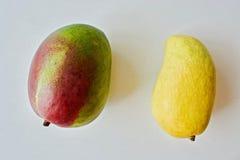 Gul mango och röd mango Royaltyfri Foto