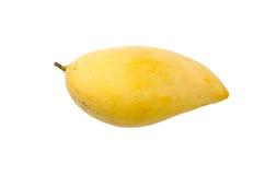 Gul mangofrukt som isoleras på vit bakgrund med att fästa ihop PA Arkivfoton