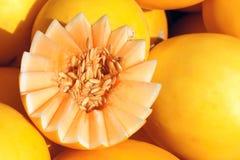 Gul melon Arkivfoto