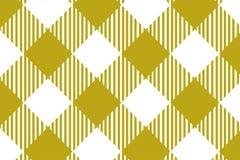 Gul modell för gingham Textur från romb/fyrkanter för - pläd, borddukar, kläder, skjortor, klänningar, papper och annan textil vektor illustrationer