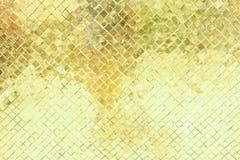 Gul och grön antik vägg Fotografering för Bildbyråer
