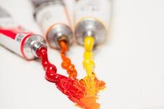 Olja färgar Arkivfoton