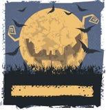 Gul ond måne Arkivbild