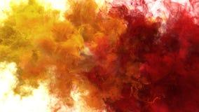 Gul orange alfabetisk för vätska för explosioner för rök för bristning för röd färg åtskillig färgrik stock illustrationer