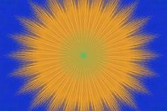 Gul orange blom- kalejdoskop f?r modell keramiskt stock illustrationer