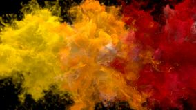 Gul orange bristning för röd färg - åtskillig färgrik alfabetisk för rökexplosionvätska vektor illustrationer