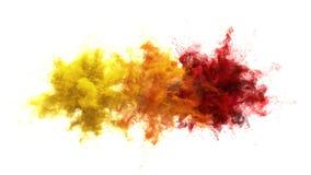 Gul orange bristning för röd färg - åtskillig färgrik alfabetisk för rökexplosionvätska royaltyfri illustrationer