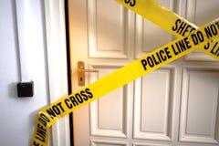 Gul plast- brottsplats Royaltyfria Bilder