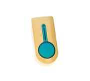 Gul plast- ringklocka Fotografering för Bildbyråer