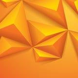 Gul polygonal design. Arkivfoton