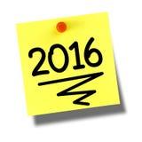 gul postit 2016 Arkivbilder