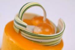Gul pudding Fotografering för Bildbyråer