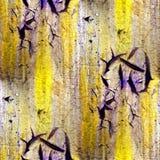 Gul purpurfärgad sömlös abstrakt textur av gammalt Arkivfoton