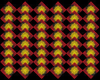 Gul röd abstrakt formbakgrund Royaltyfri Bild