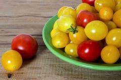 Gul röd tomat Fotografering för Bildbyråer