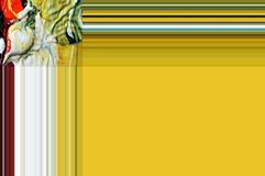 Gul ram som abstrakt bakgrund med linjer Royaltyfri Bild