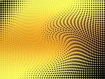 Gul rastrerad bakgrund för abstrakt begreppvirvlar Arkivfoton