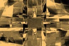 Gul rastrerad bakgrund för tappning Royaltyfria Bilder