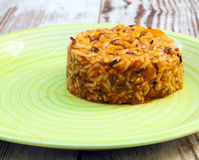 Gul rice Arkivbild