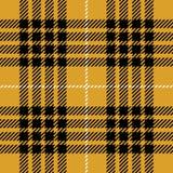 Gul sömlös skotsk modell för tartanpläd Stock Illustrationer