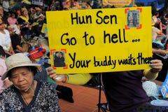 Gul-Skjorta protest Royaltyfri Fotografi
