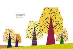 Gul skog Fotografering för Bildbyråer