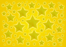 Gul stjärnabakgrund Arkivfoto