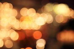 Gul suddighetsljusbakgrund Royaltyfri Fotografi