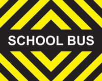 Gul svart pil för skolbuss vektor illustrationer