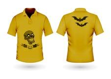 Gul t-skjorta för allhelgonaafton Arkivfoto