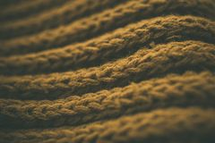 Gul tappning stack tygtextur och bakgrund för formgivare Tappning stucken bakgrund Övre sikt för slut av abstrakt textur Fotografering för Bildbyråer