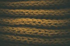 Gul tappning stack tygtextur och bakgrund för formgivare Tappning stucken bakgrund Övre sikt för slut av abstrakt textur Royaltyfria Bilder