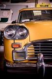 Gul taxi Arkivbilder