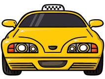 Gul taxi Royaltyfri Fotografi