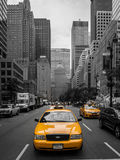 Gul taxi i New York City Royaltyfria Foton