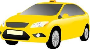 Gul taxibil Arkivfoton