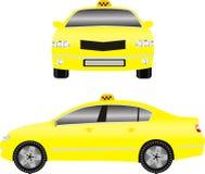 Gul taxibil Arkivfoto