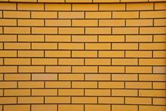 Gul tegelstenvägg Royaltyfri Foto