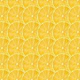 Gul textur för citronfruktskivor Arkivbilder