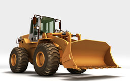 Gul traktor arkivfoto