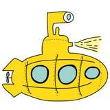 Gul ubåt Royaltyfri Fotografi